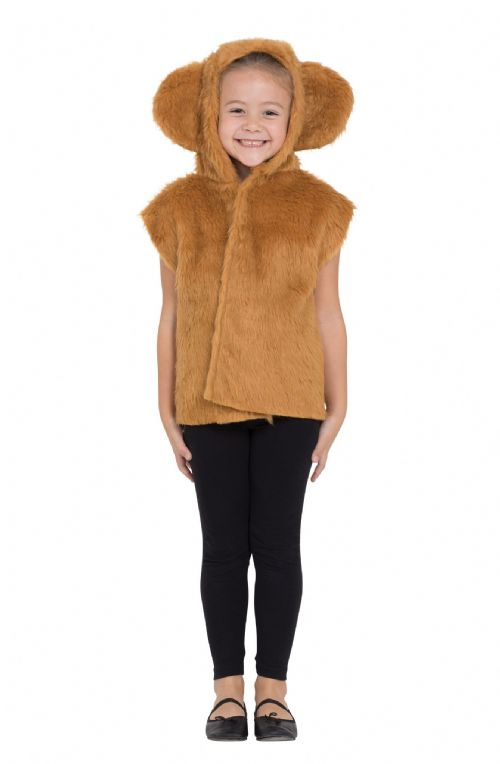 Childs Bear Fur Tabard Costume Grizzly Pooh Fancy Dress Outfit